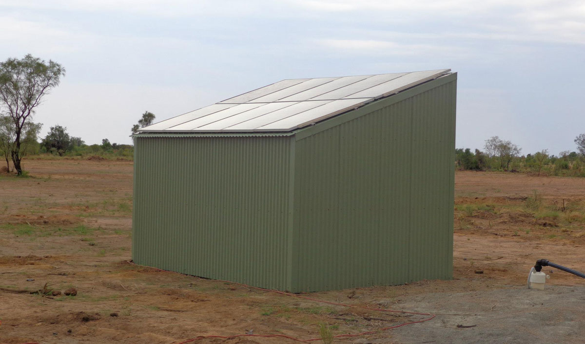 Solar Shed for Water Pump Stations