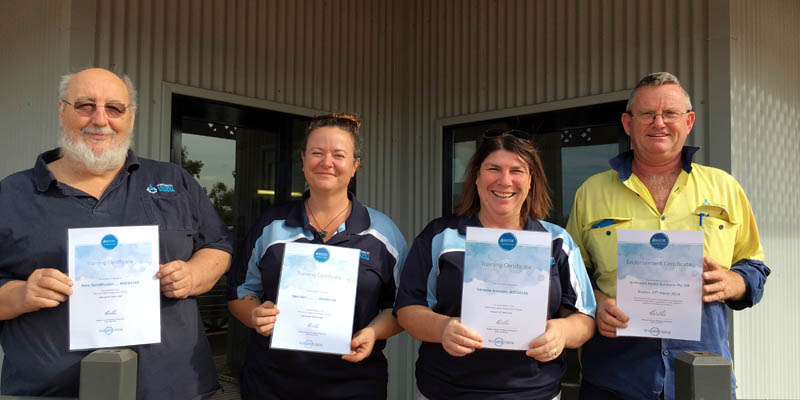 Northwest Hydro Solutions Team with Waterwise Training Certificates